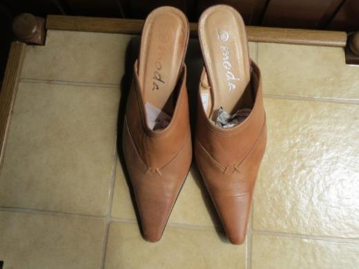 Schuhe, Pantoletten Mules, Gr.37, braun