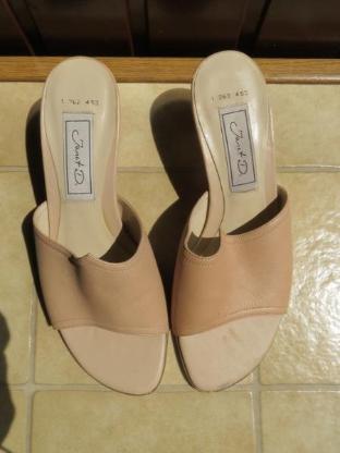 Schuhe, Pantoletten, Gr.37, beige