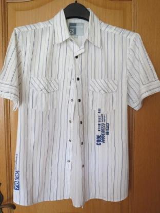 Hemd, gestreift, Gr.40/M, Kurzarm