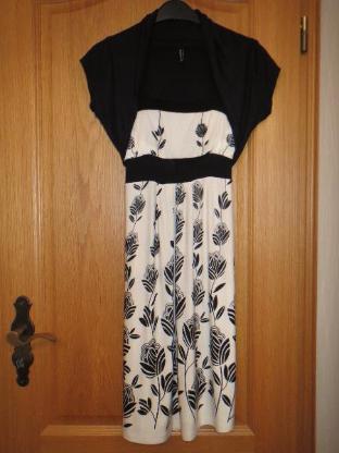Kleid mit Jäckchen, Gr.XS/S, schwarz-weiß #Amisu