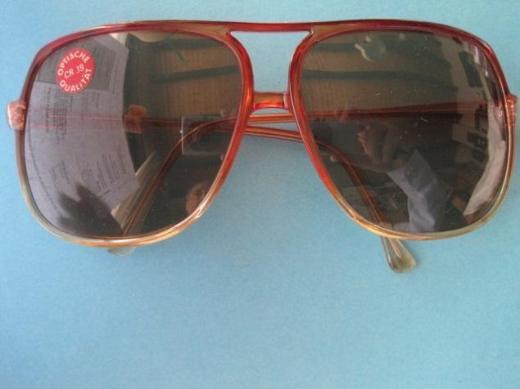 Sonnenbrille Ann-Sherridan, Piloten-Form, UV-Schutz, ungetragen