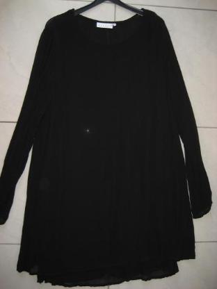 """Hennes"""" schwarzes doppellagiges Georgette Kleid Tunika XL"""