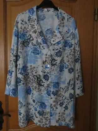 Bluse, Gr.50/XL, 3/4 Arm, Mona