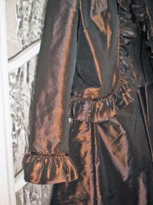 NIENHAUS Abendkleid 3-teilig Jacke, Corsage, Rock, Größe 38, Fb. braun changierend, Neuwertig - Lüdenscheid