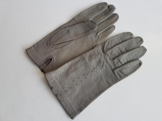Aus Kla Handschuhe Leder grau