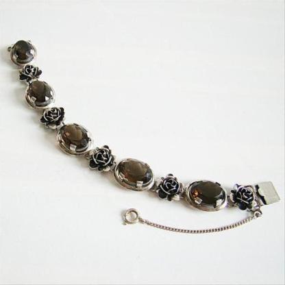 Armband Silber 925er Rauchquarz 5024 Armschmuck Edelstein