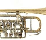 Meister J. Scherzer Piccolotrompete, Mod. 8111-L, Neuware inkl. Doppelkoffer