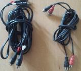 2 Stück Cinch Verlängerung Anschlüsse: 2x Cinch Stecker auf 2x Cinch Buchse Kabellänge: 2 m + 5 m - Verden (Aller)