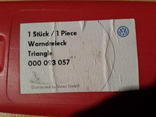 "VW Warndreieck klappbar + Köcher Delta 1 "" NEU "" - Verden (Aller)"