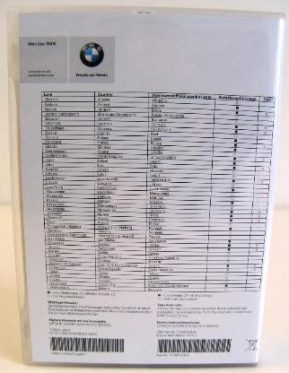 BMW NAVI-Software UPDATE ROAD MAP EUROPE WEST MOTION.2015-2 auf USB-Stick - Oyten