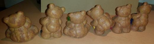 6 Stück Buchstaben Bären aus Keramik mit Namen SANDRA - Verden (Aller)