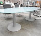 Konferenztisch Glas, oval 230, Besprechungstisch, Glastisch, Büromöbel - Bremen