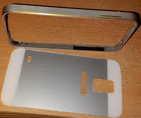 Samsung Galaxy S5/S5 NEO Aluminium Bumper Polycarbonat Rückseite - Verden (Aller)