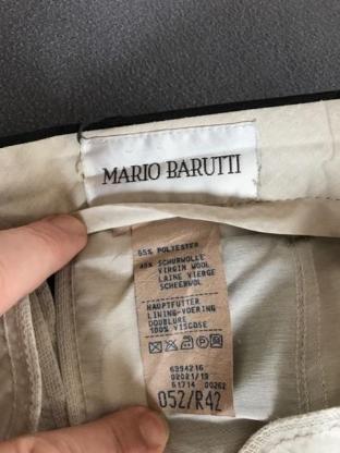"""Hose Fabrikat """"Mario Barutti"""", Gr. 52, anthrazit, TOP-Zustand - Visselhövede"""