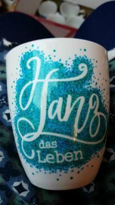 Becher Tasse handbemalt Unikate Sprüche Porzellan Bremen - Bremen