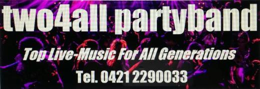two4all-partyband = Top Livemusik für Feiern mit kleinem Budget - Bremen