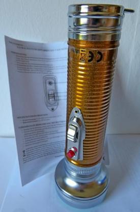 """Helle """"Nostalgie""""-Taschenlampe mit LED-Licht + Anleitung, neu in OVP! - Diepholz"""