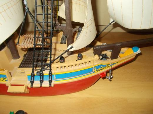 Nr . 1 Großes Playmobil Tarn / Piratenschiff TOP+ Viel Zubehör ! - Edewecht