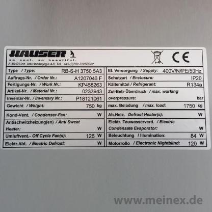 Wandkühlregal Hauser RB-S-H 3750 5A3 - 04 - gebraucht - Oldenburg (Oldenburg) Bloherfelde