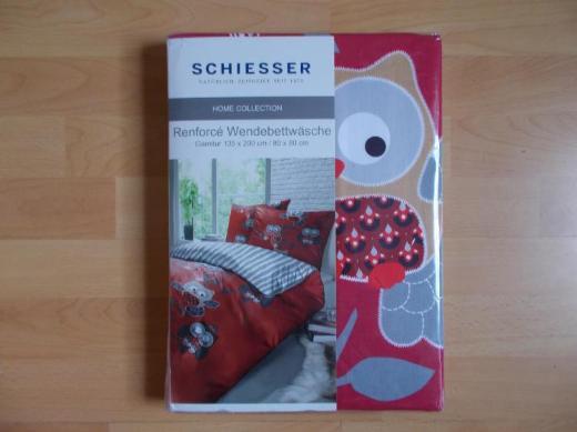 2 x NEUE ! Schiesser Eulen Wende Bettwäsche Set 135 x 200 - Edewecht