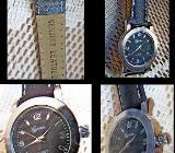 """Neuwertige Edelstahl-Damen-Armbanduhr """"Cypre'a"""" mit Lederarmband! - Diepholz"""
