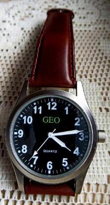 Edelstahl-Armbanduhr, Echtleder-Armband, neue Batterie, top Zustand! - Diepholz