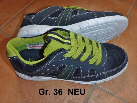 Halbschuhe dunkelblau, Gr. 36 von Puccetti (Siemes), NEU mit Etikett - Bremen
