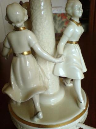 Art Deco Porzellan Tischlampe - NEUTETTAU - selten - Bremerhaven