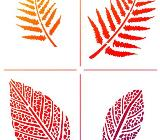 Schablonen,Herbst,Blätter,Upcycling,Malen,Kreidefarbe,Stempeln,Acrylblock,Silikonstempel,Bremen, Workshop - Bremen