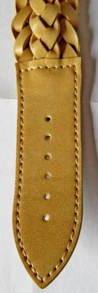 Edelstahl-Damenuhr, Lederarmband, teils geflochten, ungetragen - Neu - Diepholz