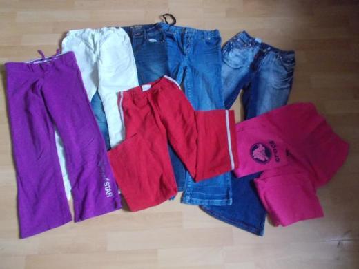 5 + 2 Teiliges Mädchen Hosen Paket in 140 - Edewecht