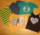 4 T Shirts + 1 Top Paket für Jungs in 158 - Edewecht