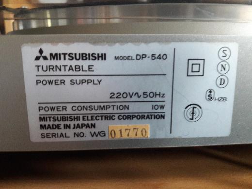 Plattenspieler Mitsubishi DP-540 - Bremen