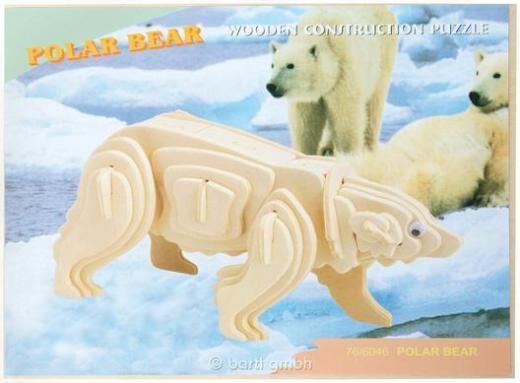 3D Puzzle Eisbär aus Holz - NEU - Scheeßel