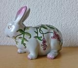 Dekorativer >> Deko - Hase mit schönem Blumenmuster - Münster
