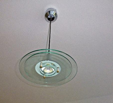 Decken Pendel Leuchte >> Wohn - Esszimmer,Glas + Chrom