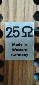 Lautsprecher Boxen 2 Stück mit Holzgehäuse, (Nussbaum), 10 Ohm, Top Zustand - Münster