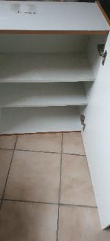 Küchenhängeschrank, Weiß/ Eiche hell - Nottuln
