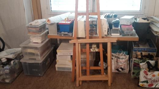 Atelier Auflösung für Malerei und textiles Gestalten