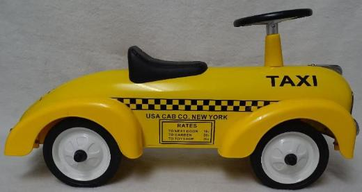 "Rutschauto / Laufauto Modell ""Taxi"" aus Metall von Magni (""Bobby Car"") - Raesfeld"