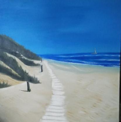 Ölbilder Strand