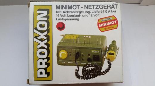 Proxxon Minimot-Netzgerät plus Feinbohrschleifer und Maschinenschraubstock, gebr., Top Zustand - Münster