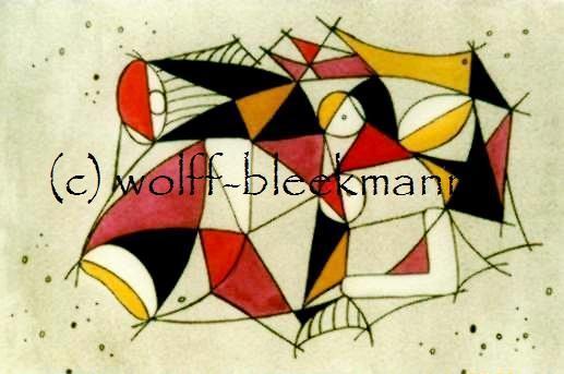 Spiel mit Form und Farbe 1 und 2 - Grafik  Original Ingrid Wolff-Bleekmann