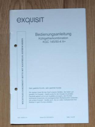 Gefriekomination KGC 145/50-4 A+ von exuisit - Münster