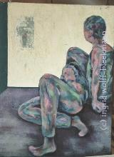 In Gedanken verloren I - Acryl auf Leinwand 40 x 50 cm Original Ingrid Wolff-Bleekmann