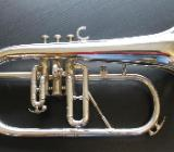 Original Willson B - Flügelhorn, versilbert mit Koffer - Hagenburg