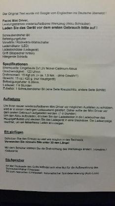 Akku Schrauber Pacini Mini Driver, Neu & OVP -- kostenloser Versand - Münster