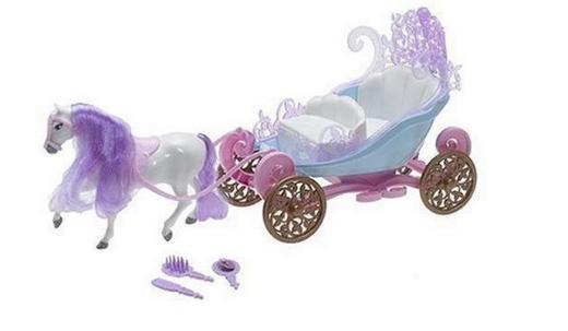 Barbie Minikutsche mit Pferd und Barbie Minischloß mit Zubehör und Barbie Minipuppe