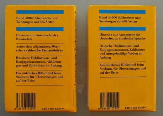 Wörterbücher Russisch-Deutsch, Deutsch-Russisch (Langenscheidt) - Münster