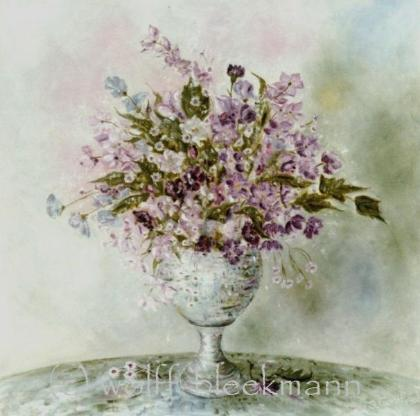 Traum in Lila, Öl auf Leinwand, 80 x 90 cm, Original, Unikat, Wolff-Bleekmann
